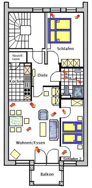 Grundriss der Ferienwohnung Boltenhagen
